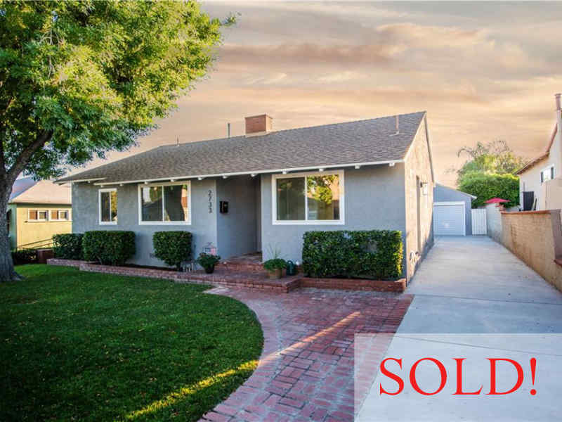 Home in Burbank CA Sold