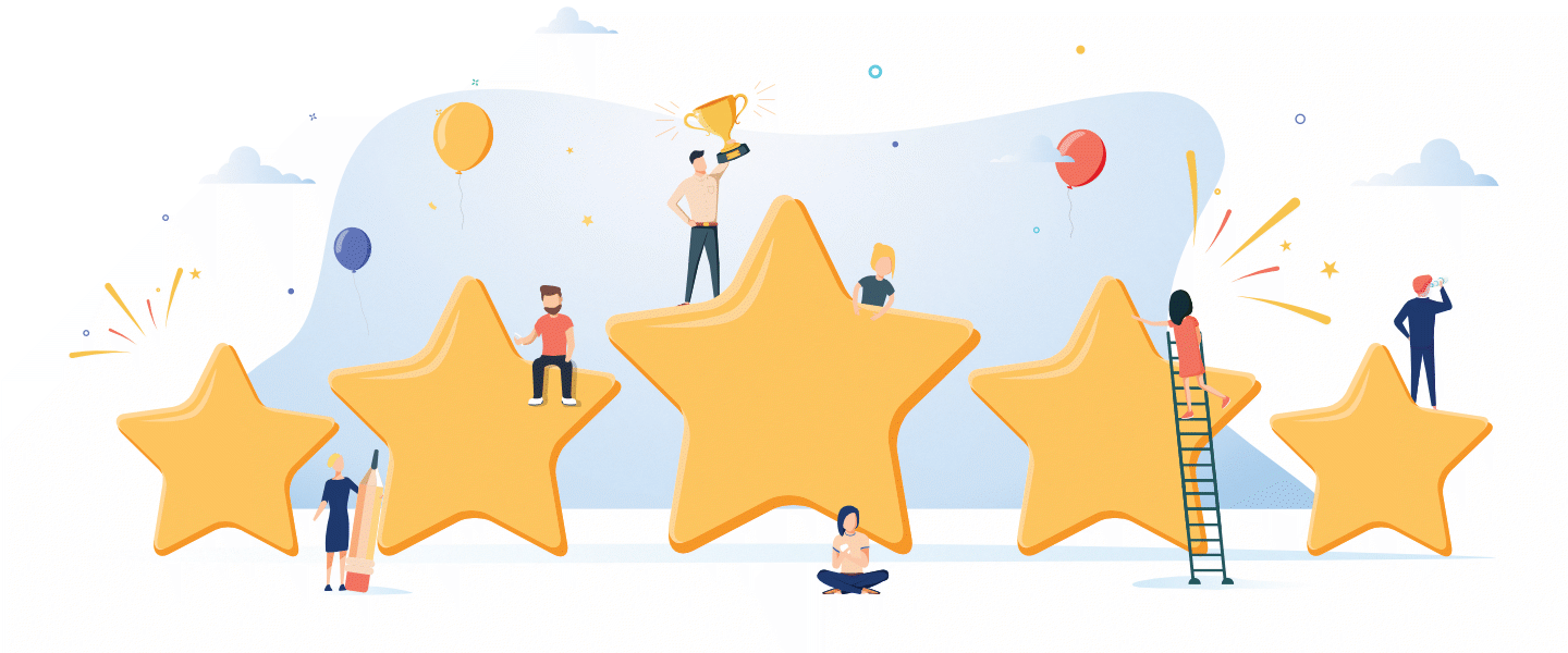 Review Stars Graphic
