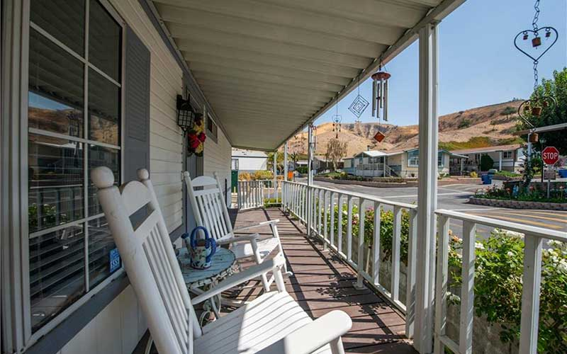 Sand Cyn Home Raised Porch